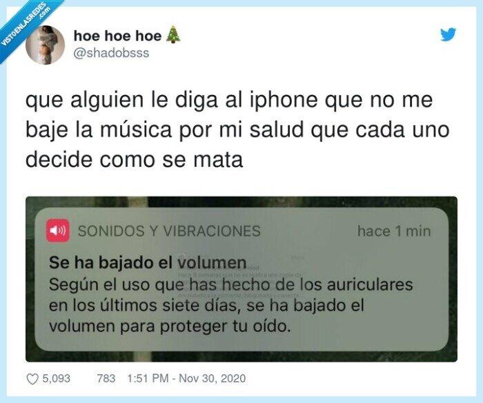 cascos,iphone,música,volumen
