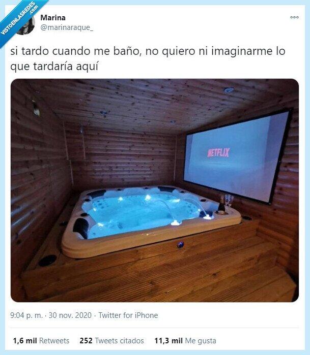 baño,netflix