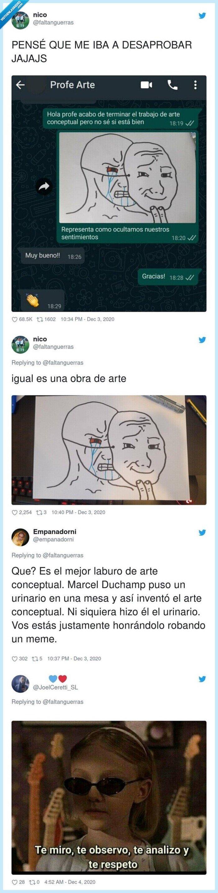 arte,meme,profesor,trabajo,whatsapp