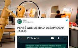Enlace a Copia un meme, lo cuela como trabajo de arte conceptual y el profesor le felicita por su gran desempeño, por  @faltanguerras
