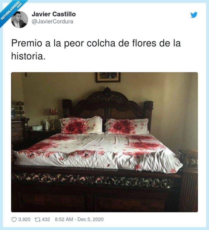 colcha,flores,historia,peor,premio