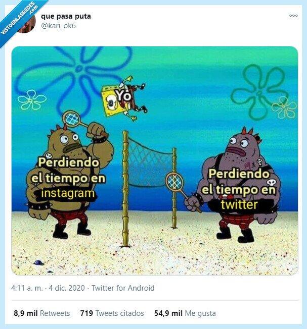 instagram,perder,tiempo,twitter