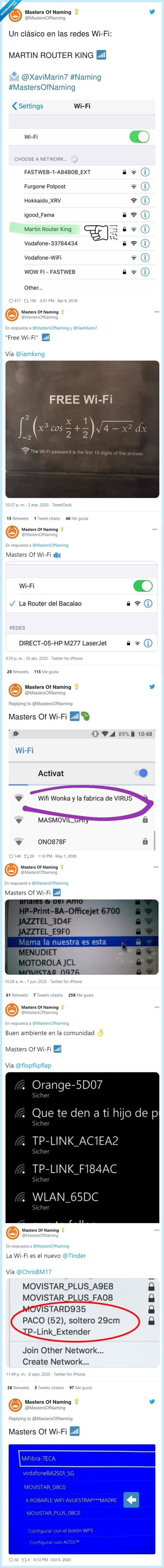 masters,naming,nombres,wifi