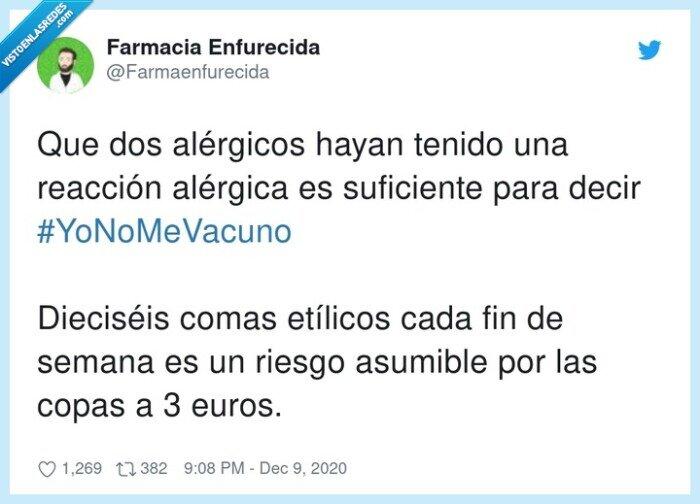 alérgicos,baratas,copas,vacunas
