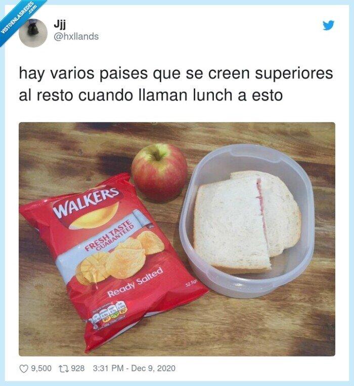 comida,lunch,manzana,países,patatas,sandwich,superiores