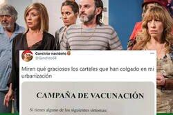 Enlace a Se cansa de su bloque y empieza una campaña de vacunación por ser 'malos vecinos',  por @ganchito64
