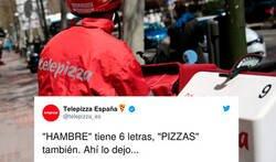 Enlace a Telepizza se come un aplaudido zasca de su sindicato de trabajadores tras poner un 'simpático' tweet, por @bcn_cgt_telepi