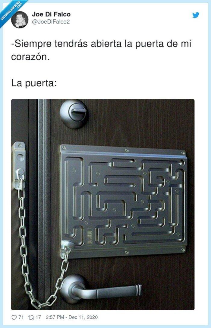 abierta,corazón,puerta