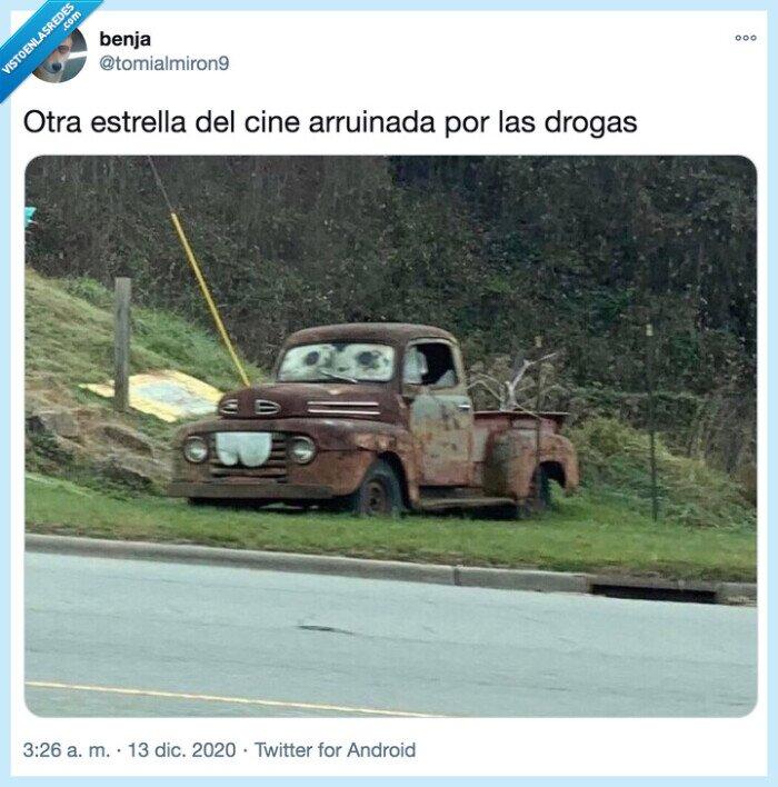 arruinada,cars,coche,drogas,estrella