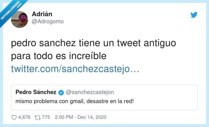 antiguo,google caído,increíble,pedro sanchez,tweet