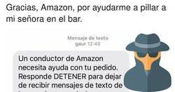 Enlace a Amazon le descubre que su mujer estaba en el bar mediante un mensaje al móvil ¡chivatos!, por @nakocomico
