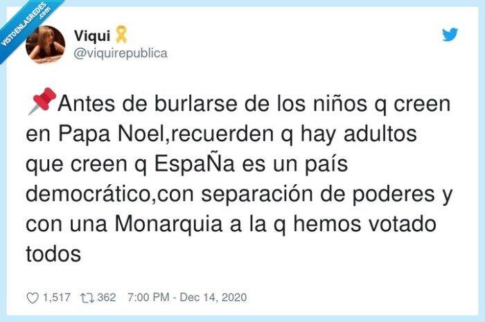 democrático,españa,monarquia,papa noel