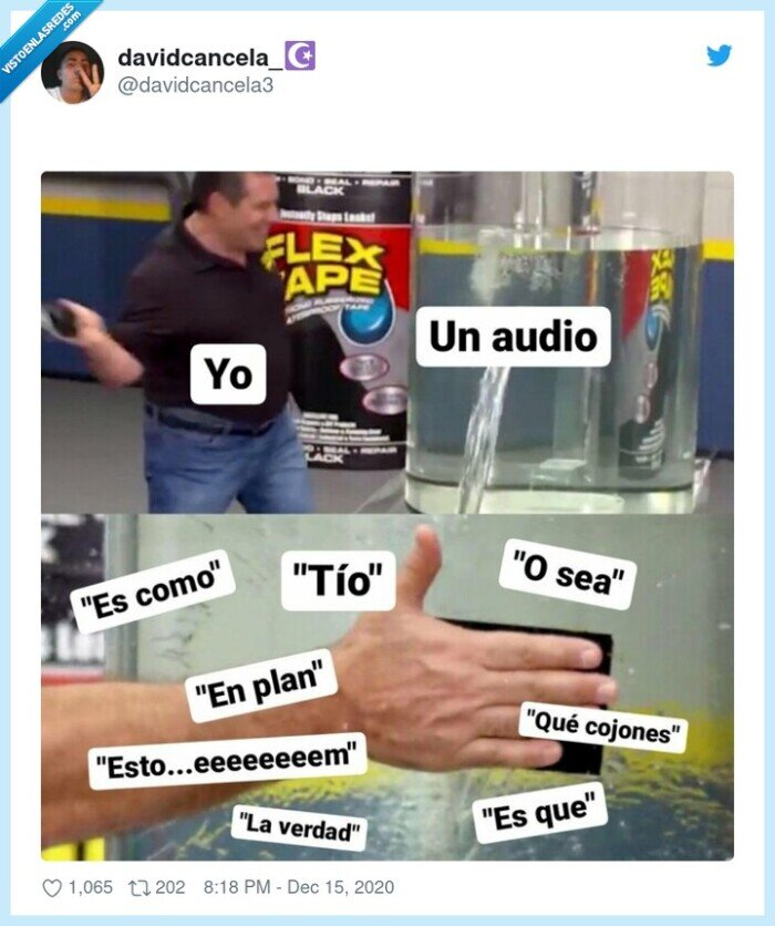 audio,coletillas,en plan,osea,tio