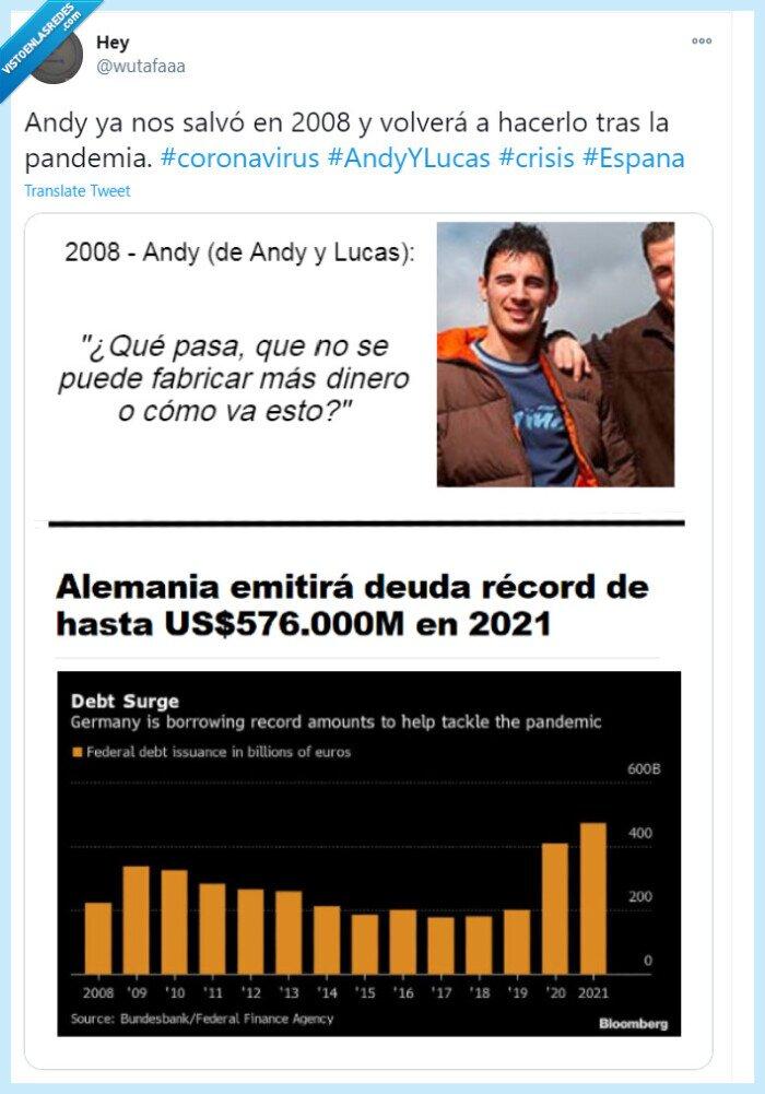 andy y lucas,coronavirus,crisis,españa