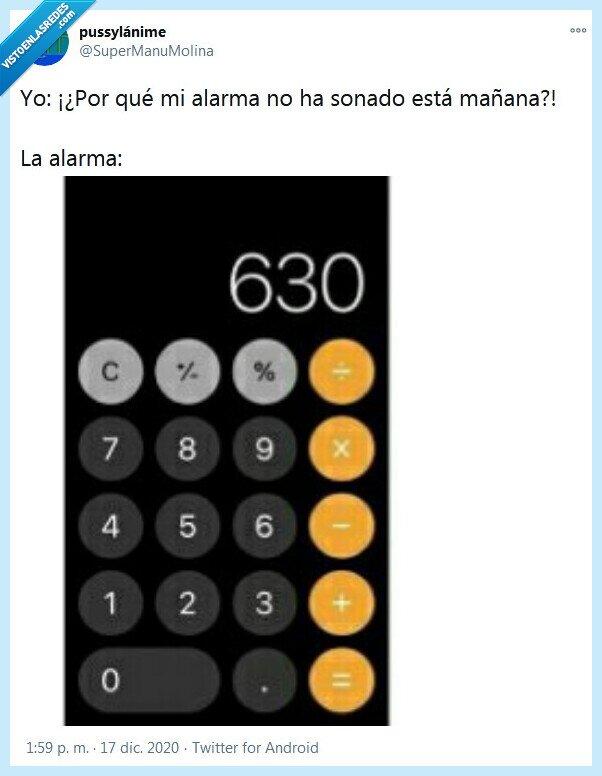 alarma,calculadora,mañana