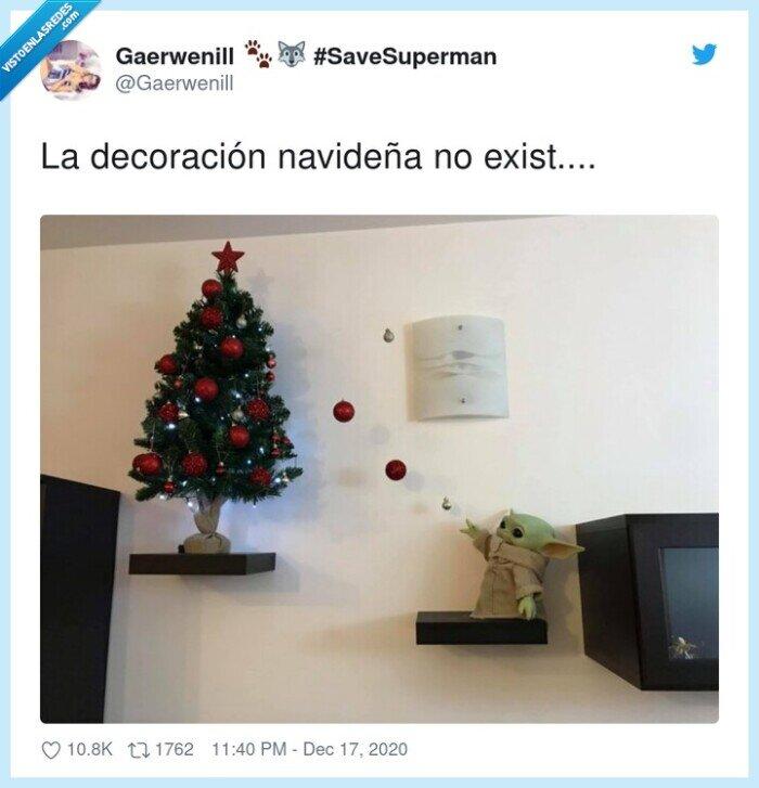 arbol,baby yoda,decoración,navidad,navideña
