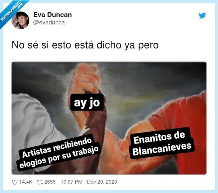 artistas,ay jo,blancanieves,enanitos
