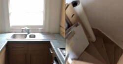 Enlace a Visita un piso para quedárselo y descubre una misteriosa puerta secreta en la cocina