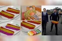 Enlace a VOX prepara una cena con un turrón con los colores de España y recibe un aluvión de memes por la mala pinta del turrón