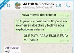 Enlace a Impresionante la cagada de este estudiante, que no sabe que hay el profesor en el grupo de Whatsapp