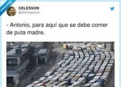 Enlace a Donde veas un camión aparcado..., por @chemapizca