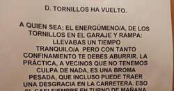 Enlace a Don Tornillos ha vuelto a esta comunidad y la ha liado, por @LiosdeVecinos