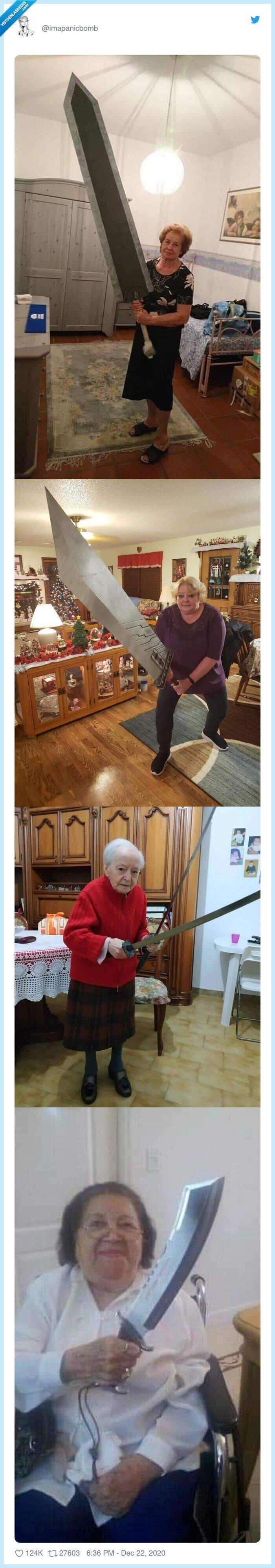 abuelas,espadas,frikis,turron