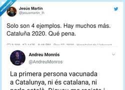 Enlace a Esto es lo que opinan algunos catalanes de la primera mujer vacunada en Catalunya