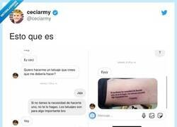 Enlace a Parece ser que es un tatuaje, por @ceciarmy