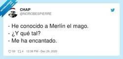 Enlace a Conociendo a Merlín, por @NOROBESPIERRE