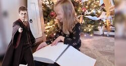 Enlace a La emotiva reacción de una niña ciega al descubrir que ha recibido los libros de 'Harry Potter' en braille por Navidad
