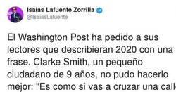 Enlace a Periódico pide a sus lectores que definan 2020 con una frase y un niño lo peta con su respuesta, por @IsaiasLafuente