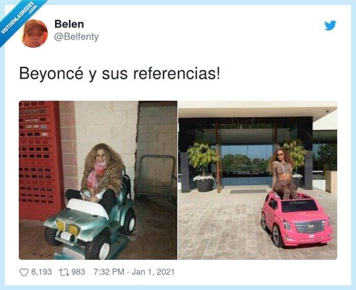 beyoncé,coches,lolita,referencias