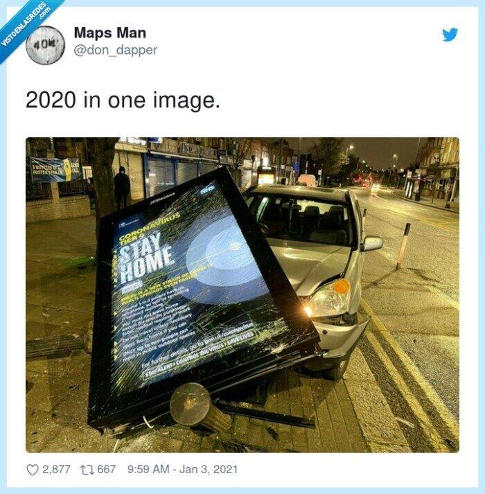 2020,accidente,coche,marquesina,romper,stay home