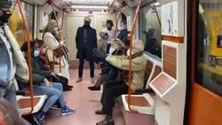 Enlace a Se lía muchísimo en el metro de Madrid entre un abuelo y una chica por no ponerse bien la mascarilla