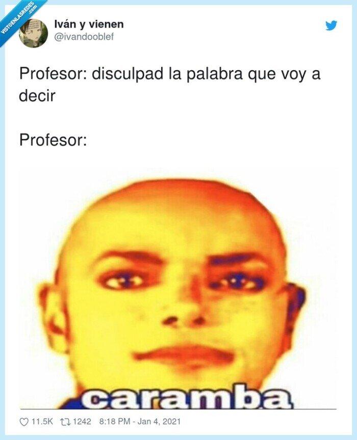 caramba,disculpad,palabrota,profesor