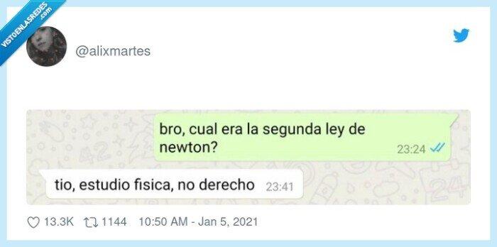 derecho,fisica,ley,newton
