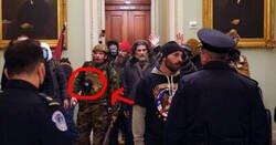 Enlace a El detalle en la riñonera de este asaltante del Capitolio hace morir de risa a medio internet, por @13370N3