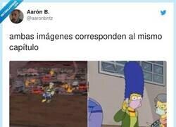 Enlace a Basta ya, quién hace los episodios de los Simpson, por @aaronbntz