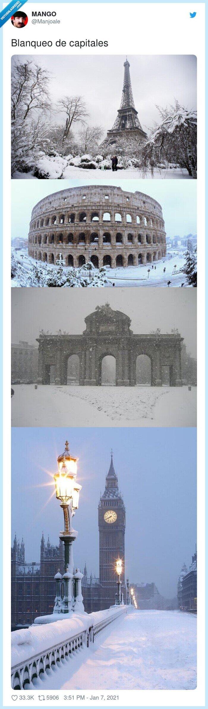 blanqueo,capitales,nieve