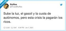 Enlace a Si Amancio Ortega no puede pagar las facturas siempre puede quemar jerseys para calentarse, por @TraedRuffles