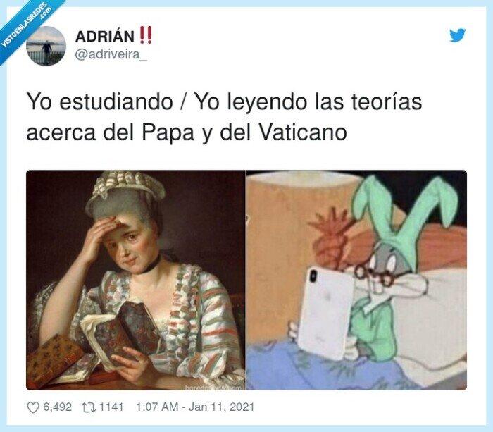 estudiar,leer,papa,teorías,vaticano