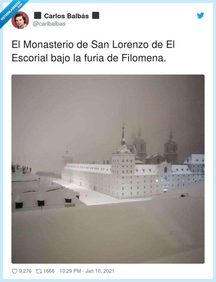 escorial,filomena,monasterio,nieve