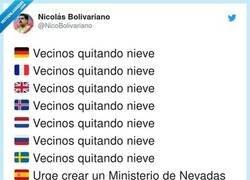 Enlace a Ministerio de Nevadas, por @NicoBolivariano