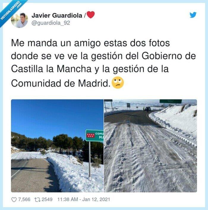 castilla la mancha,comunidad,gestión,gobierno,madrid,nieve