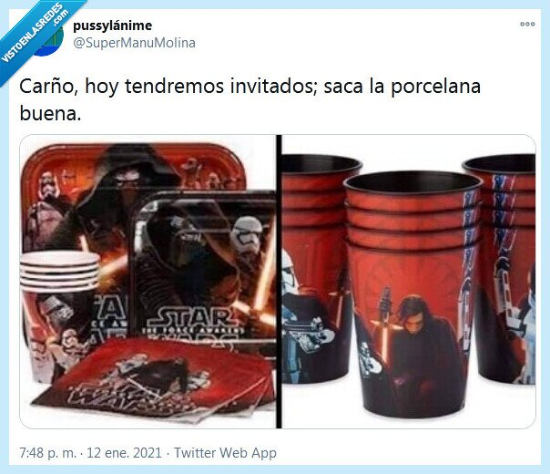 invitados,porcelana,star wars