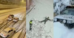 Enlace a España es una fiesta continua, más que nieve parece que la gente se ha metido otra cosa, por @NOROBESPIERRE