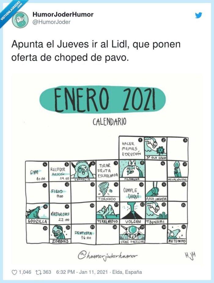 2021,calendario,desgracias,enero