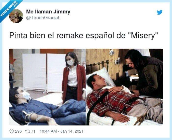 ayuso,español,misery,pinta bien,remake,vacunados