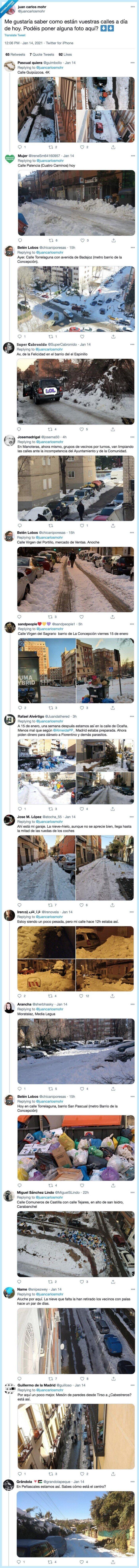 acumulación,basura,madrid,nieve